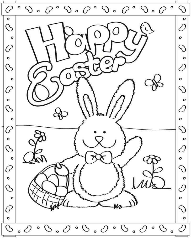 Free Easter Bunny Coloring Pages Easter Funny Dr In 2020 With