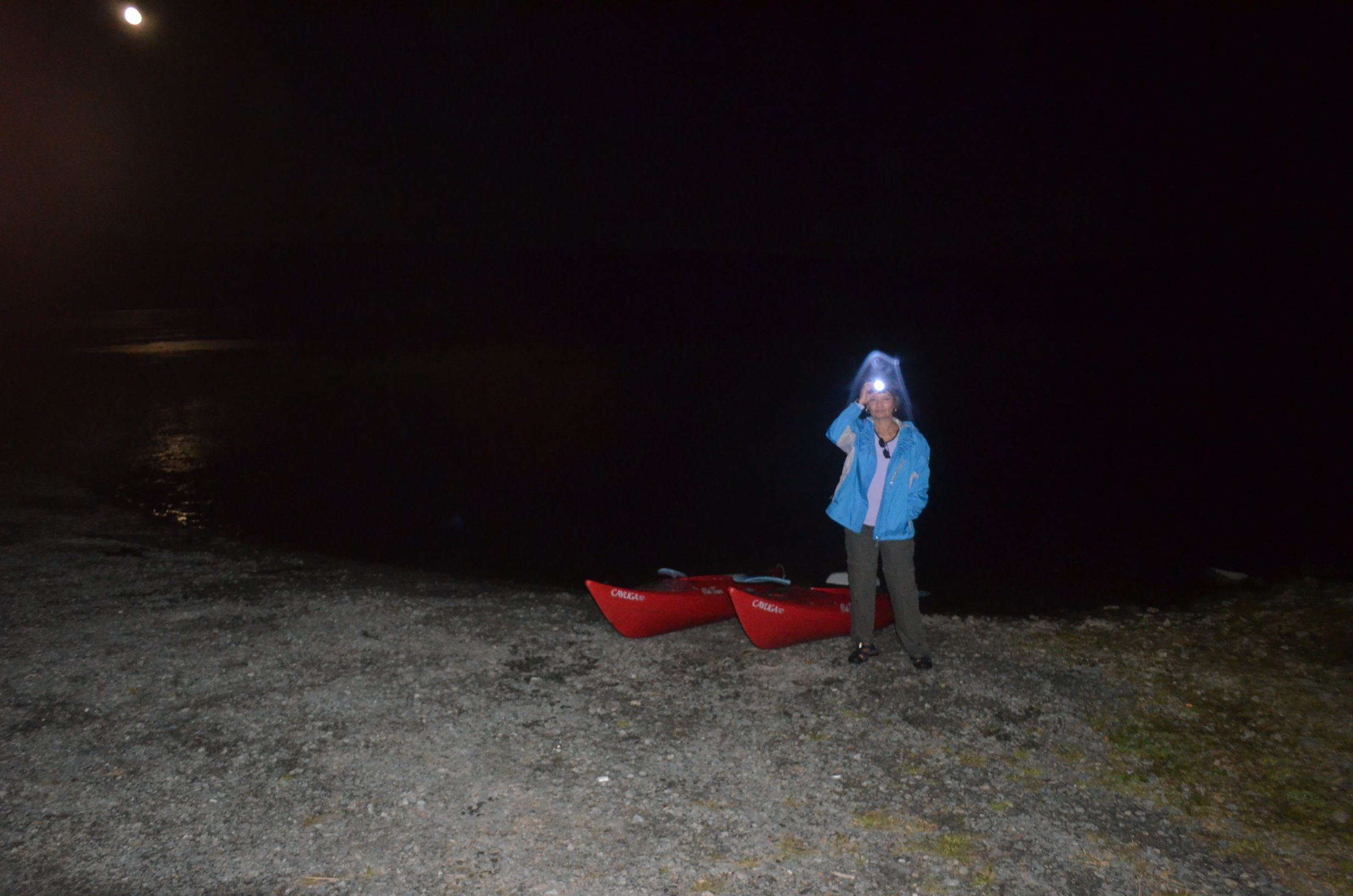 The end of a moonlight paddle 2013
