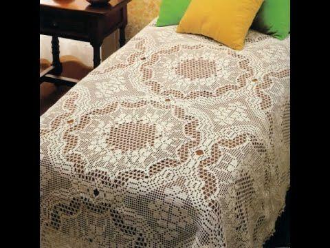 Crochet Bedspread Doily Pillow Free Patterns Magazine 23
