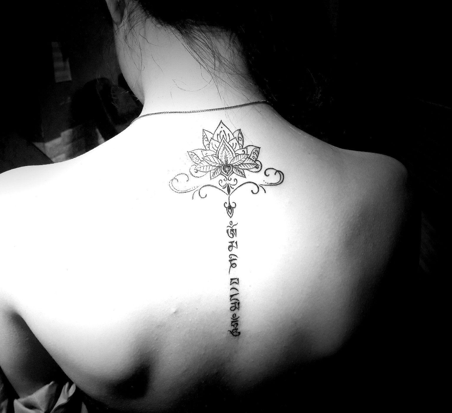 Neck Girl S Tara Mantra Tattoos: Om Mani Padme Hum Tattoo