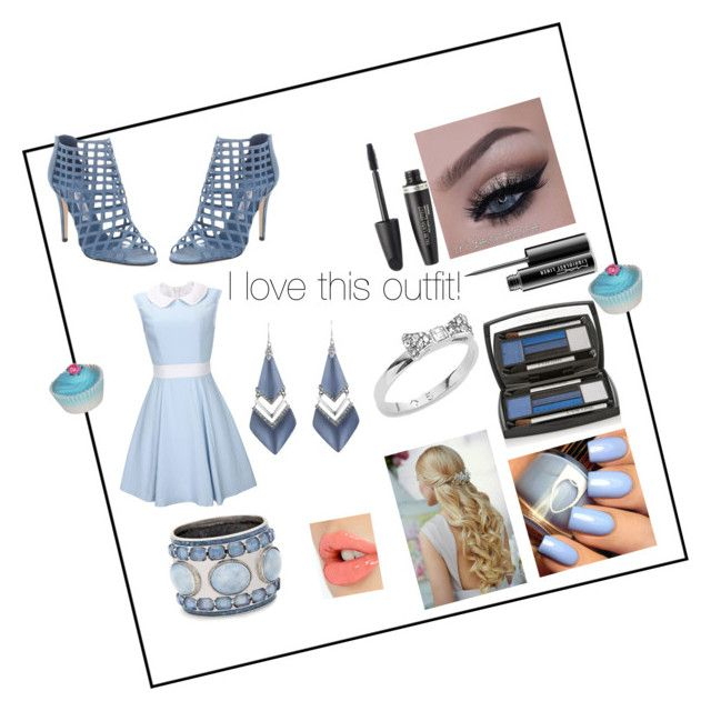 """""""Blue Winter Blur"""" by puppyloverbff ❤ liked on Polyvore featuring Jimmy Choo, MAC Cosmetics, Max Factor, Lancôme, Chico's, Kate Spade, Alexis Bittar, Charlotte Tilbury, women's clothing and women's fashion"""