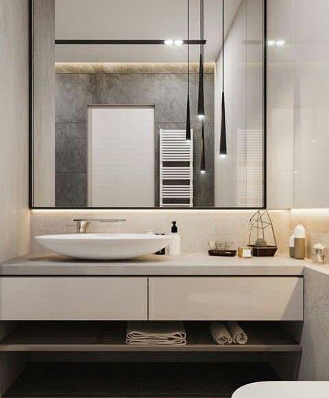 Pin By Cristina Popescu On Phong Tắm Large Bathroom Mirrors Big