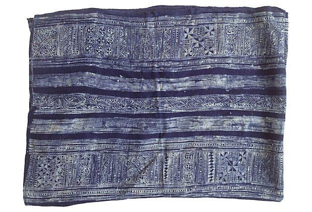 Hmong Batik Linen Panel on OneKingsLane.com