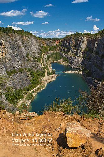 Lom Velka Amerika Quarry Morina Stredocesky Czech Republic