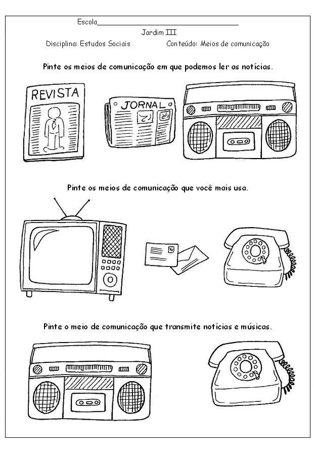 Atividades Educativas Atividades Meios De Comunicacao
