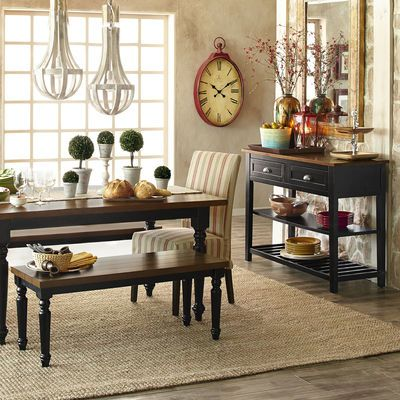 Carmichael Rubbed Black Buffet