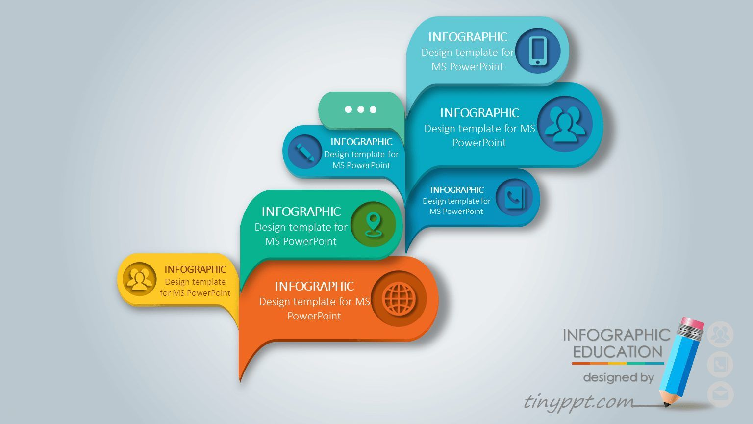 3d Animated Powerpoint Template Free Download Infographic
