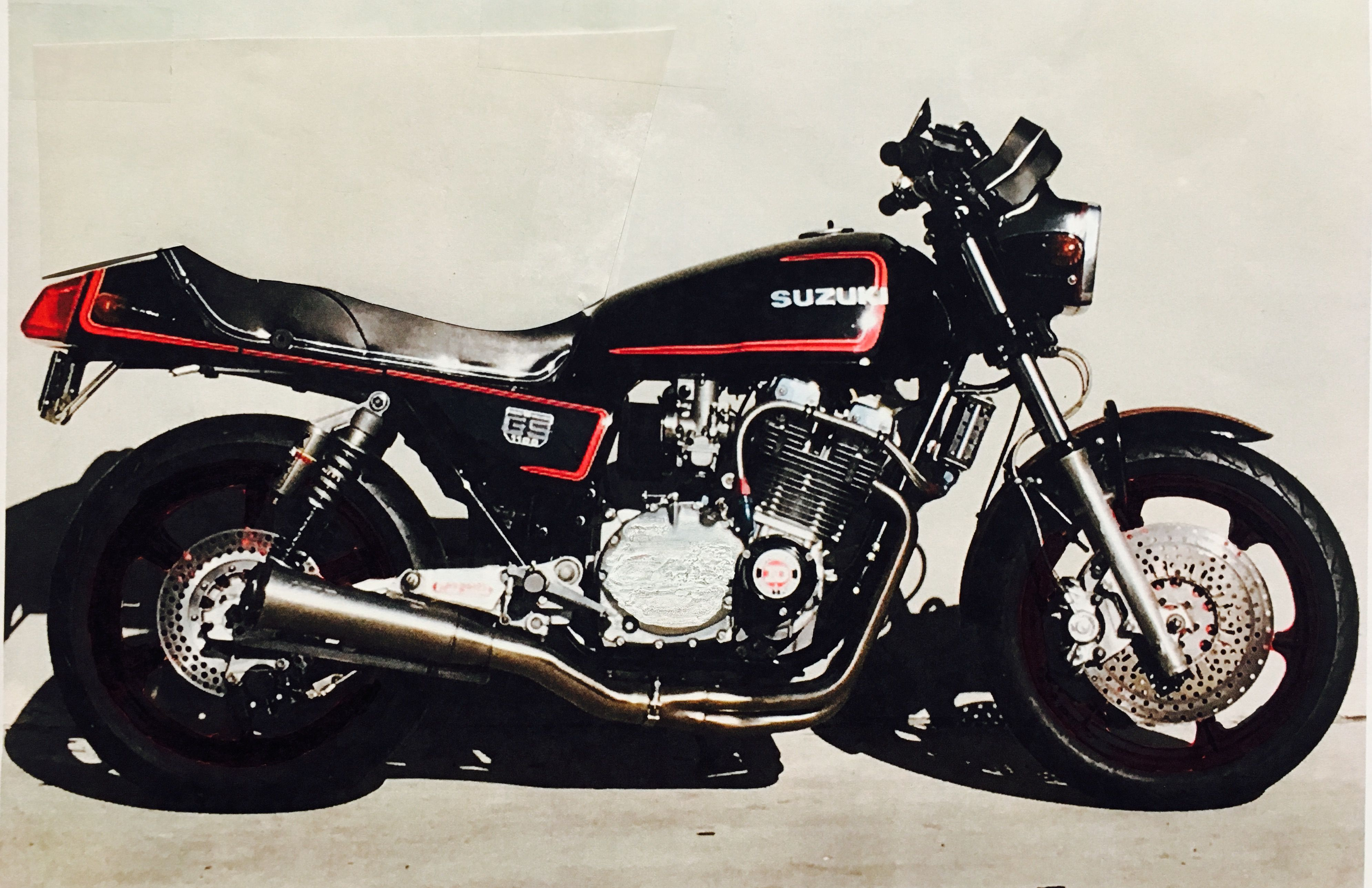 Back To Black Gs1100e With Images Suzuki Motorcycle