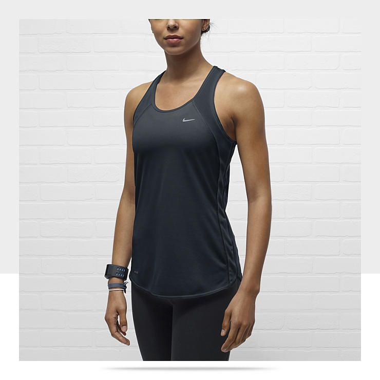 0f6b484b91 Nike Fast Pace Women s Running Tank Top  28. Could use some tanks for  summer that don t fall down to my belly button!!  P