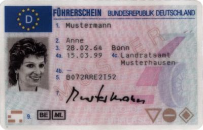 In German Germany Signs Moving English Germany License Mohammed Driver's To Template Passport Road