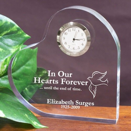 In Our Hearts Forever Personalized Memorial Heart Keepsake
