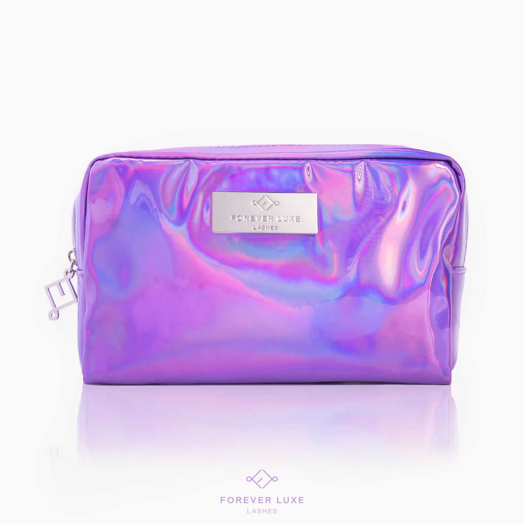 Purple Holographic Makeup Bag Holographic makeup, Makeup