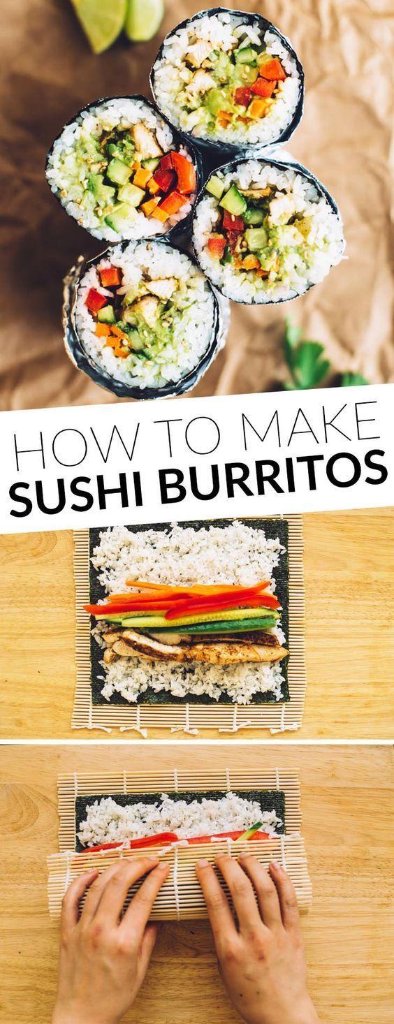 how to make a sushi burrito cuisiner livres de recettes et repas. Black Bedroom Furniture Sets. Home Design Ideas