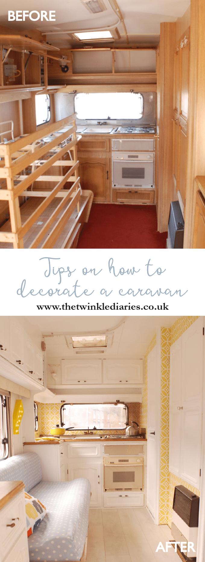 tips for decorating a caravan by mystery ship caravan. Black Bedroom Furniture Sets. Home Design Ideas