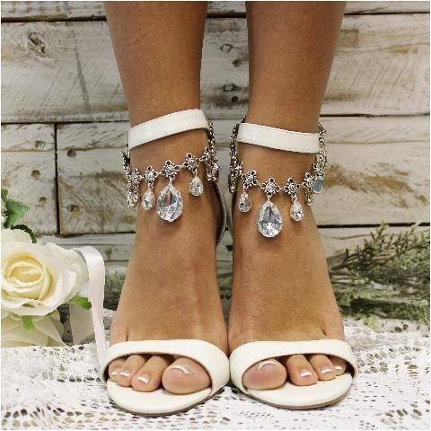 wedding ankle bracelet silvercrystals wedding anklet jewelry