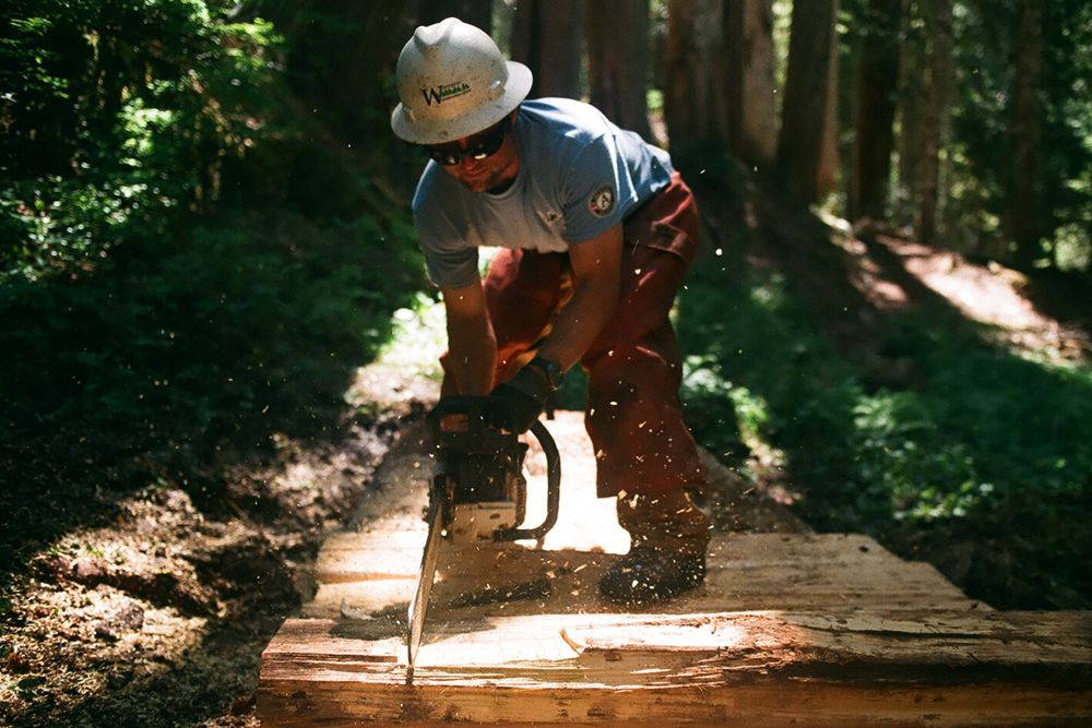 """filson:  """"We're outside ten hours a day, four days a week… It's tough work but the body adapts."""" Nick Stevens provides an insider's perspective on the Washington Conservation Corps for Filson Life."""