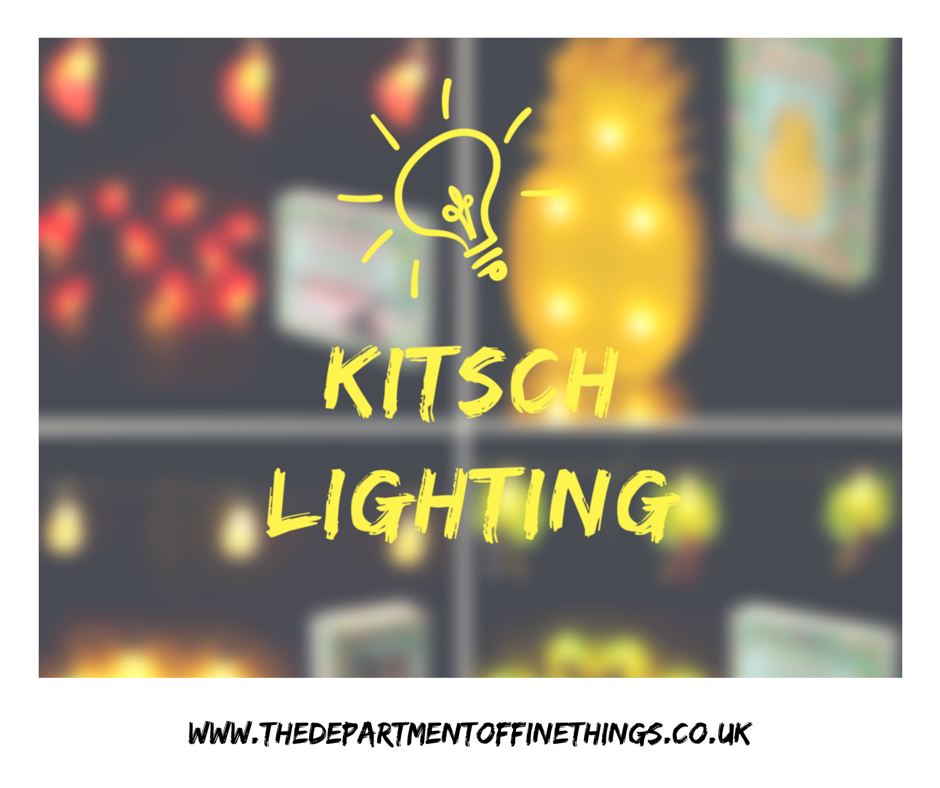 Kitsch Lighting Now Available Online - http://www.thedepartmentoffinethings.co.uk/homeware-4-c.asp Perfect For Any Room Or Garden Party!