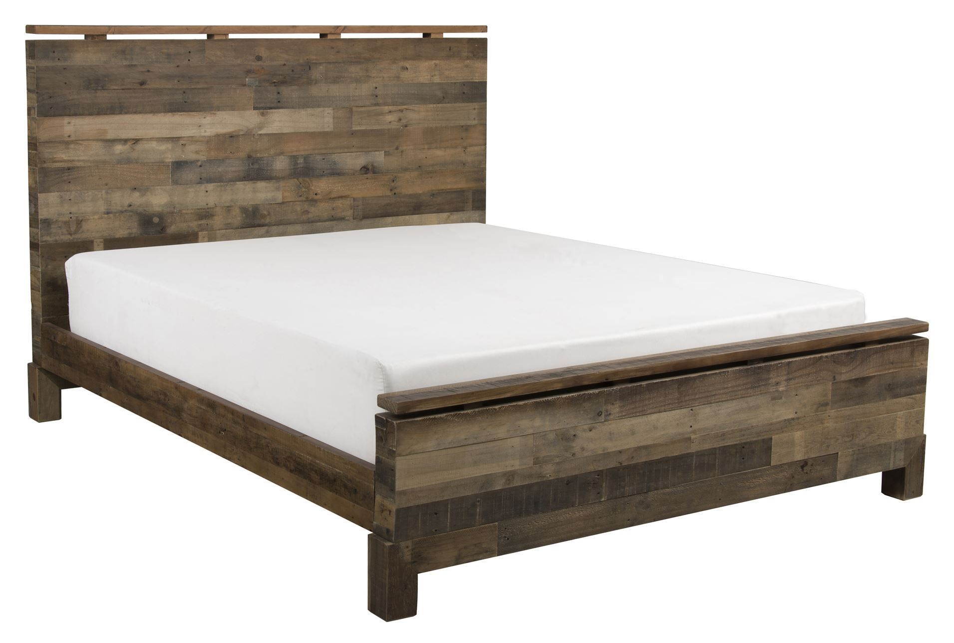 California King Platform Bed With White Mattress | King Beds ...
