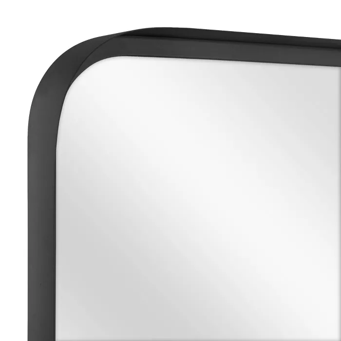24 X 36 Rectangular Decorative Mirror With Rounded Corners Black Threshold Designed With Studio Mcgee Mirror Decor Round Corner Mirror