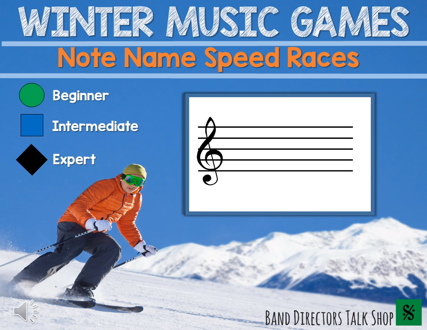 Winter Music Games Note Name Game