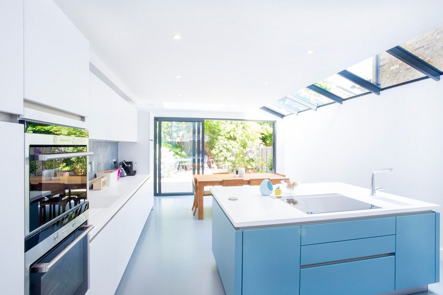 Side Return Extension On A Victorian Terraced House Kitchen