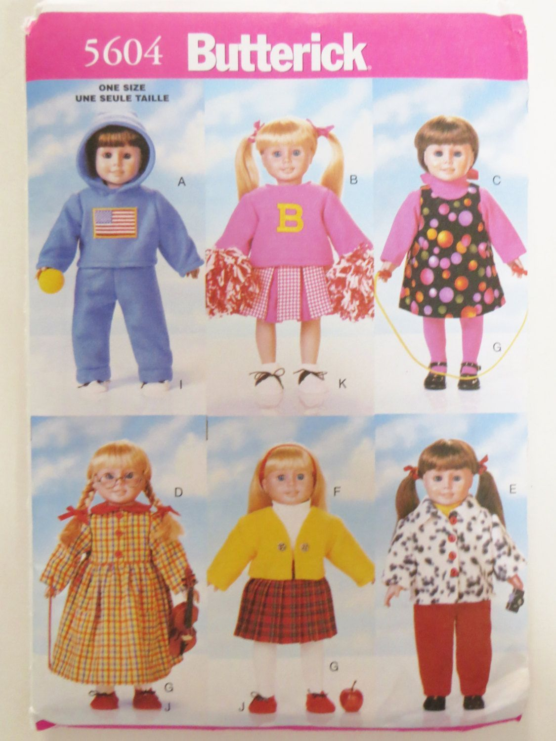 Butterick 5604 Doll Clothes Sewing Pattern, Fits 18 inch Doll, Back to School Wardrobe, Hoodie Cheerleader Jumper Dress Jacket Pants, uncut #18inchcheerleaderclothes Butterick 5604 Doll Clothes Sewing Pattern, Fits 18 inch Doll, Back to School Wardrobe, Hoodie Cheerleader Jumper Dress Jacket Pants, uncut by CatBazaar on Etsy #18inchcheerleaderclothes Butterick 5604 Doll Clothes Sewing Pattern, Fits 18 inch Doll, Back to School Wardrobe, Hoodie Cheerleader Jumper Dress Jacket Pants, uncut #18inch #18inchcheerleaderclothes