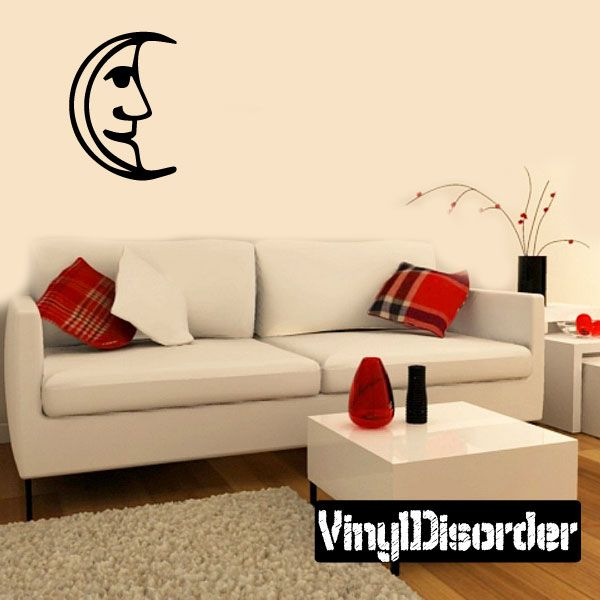 Crescent Moon Wall Decal - Vinyl Decal - Car Decal - Astrology Decal - 065