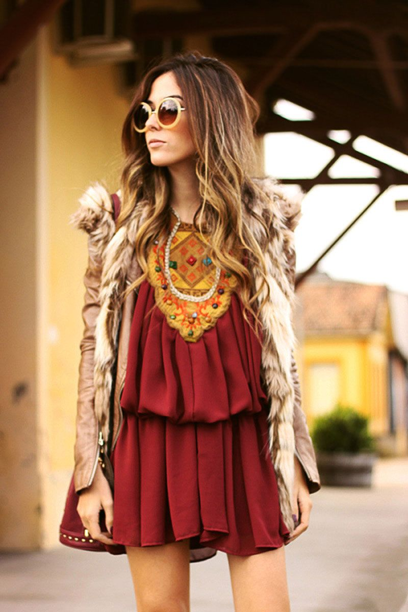 Look do dia / Fashion Coolture #ootd #burgundy