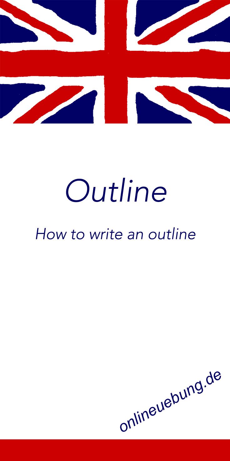 English Writing An Outline Mit Beispielformulierungen Und Checkliste Schreiben Englischunterricht Englisch Lernen