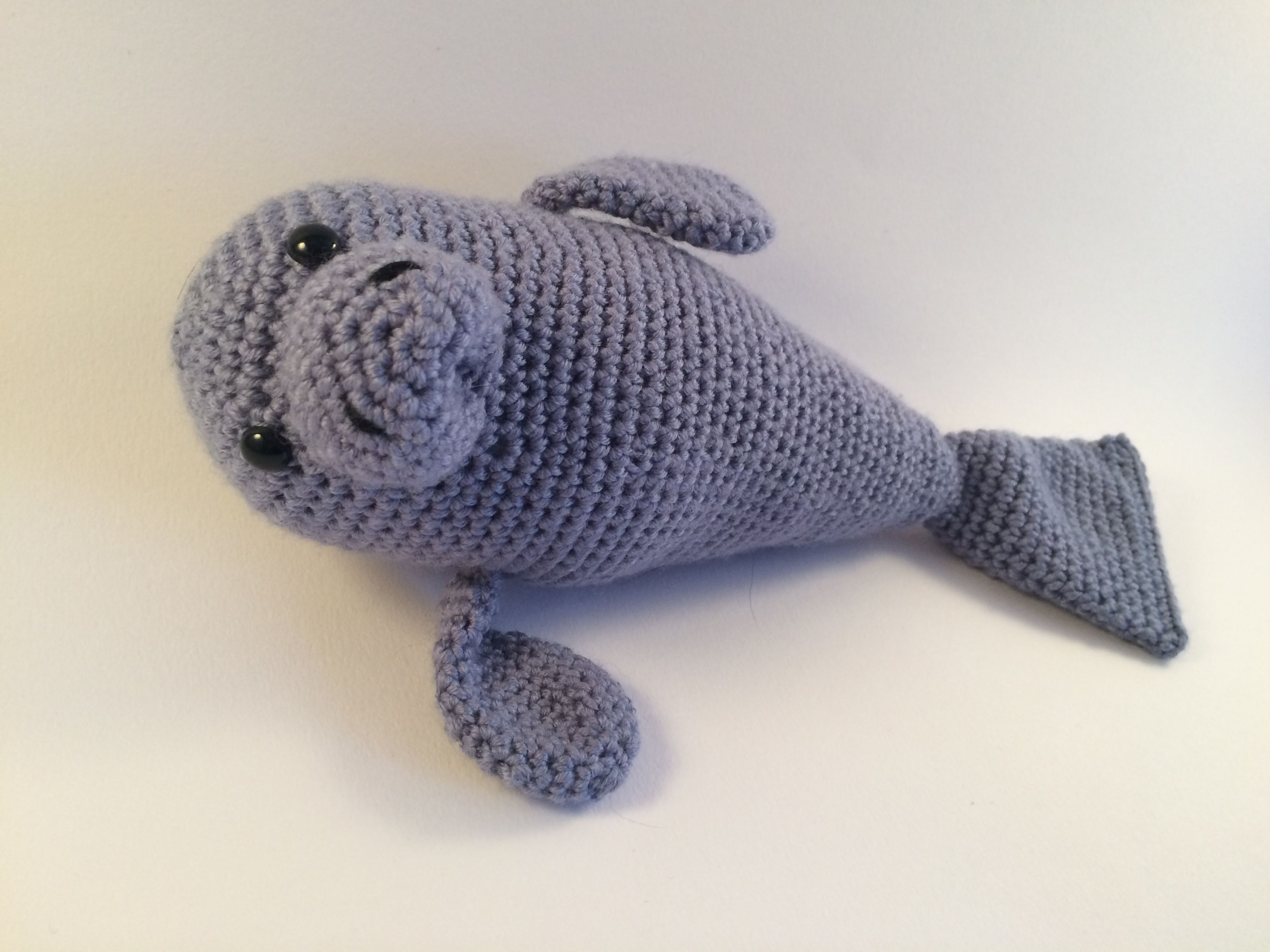 Crocheted Manatee by Chameleon Crafters | Knotsense | Pinterest ...