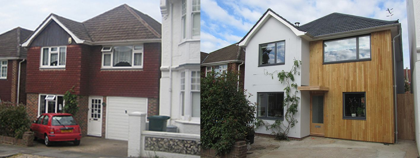 Before and after house exteriors uk google search for Home exterior makeover ideas
