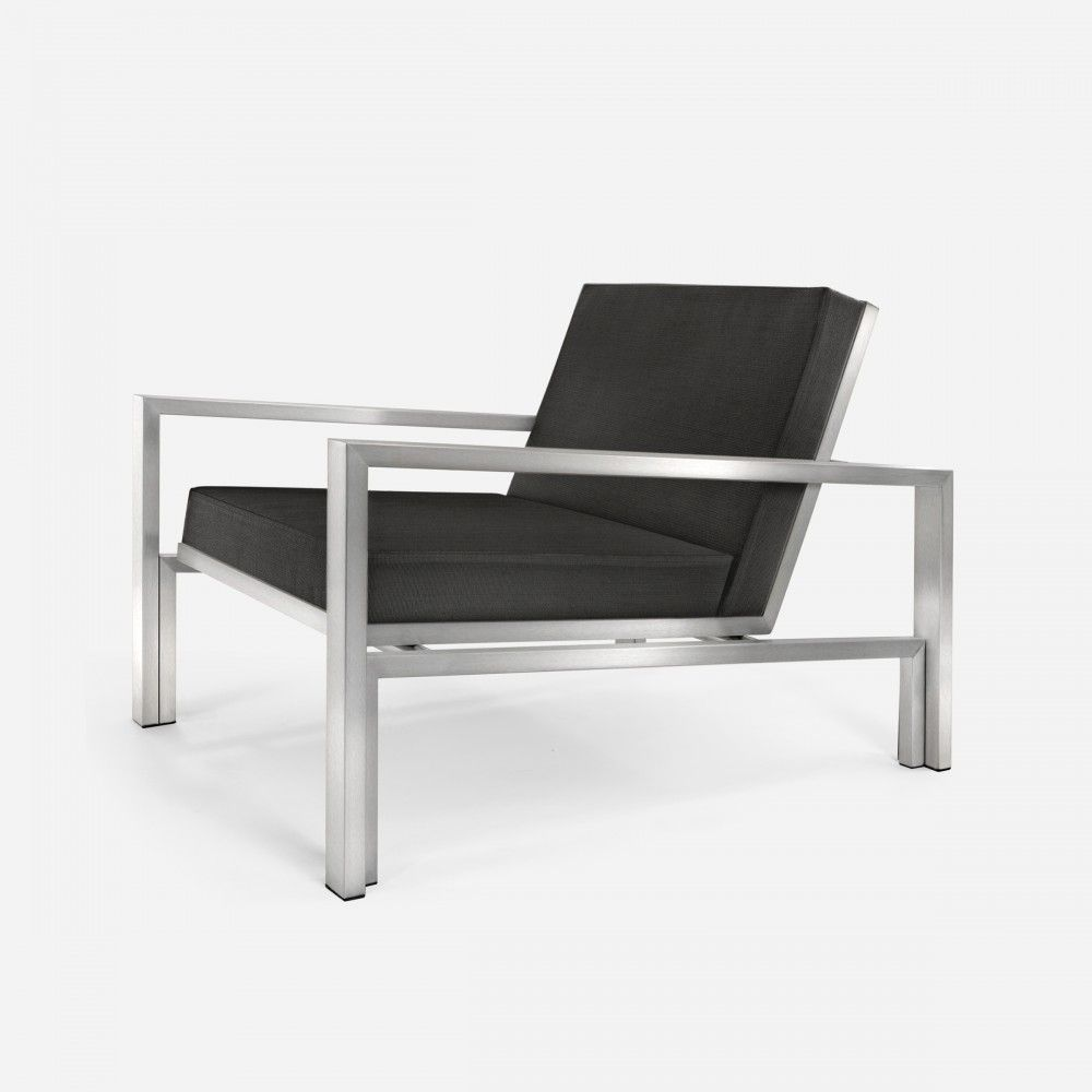 Case study stainless lounge chair upholstered seating outdoor modernica