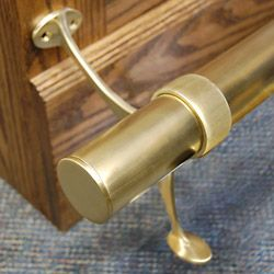 Awesome Brass Bar Foot Rails
