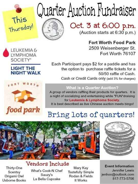 Quarter Auction 2 | Fort Worth Food Park Events | Quarter ...