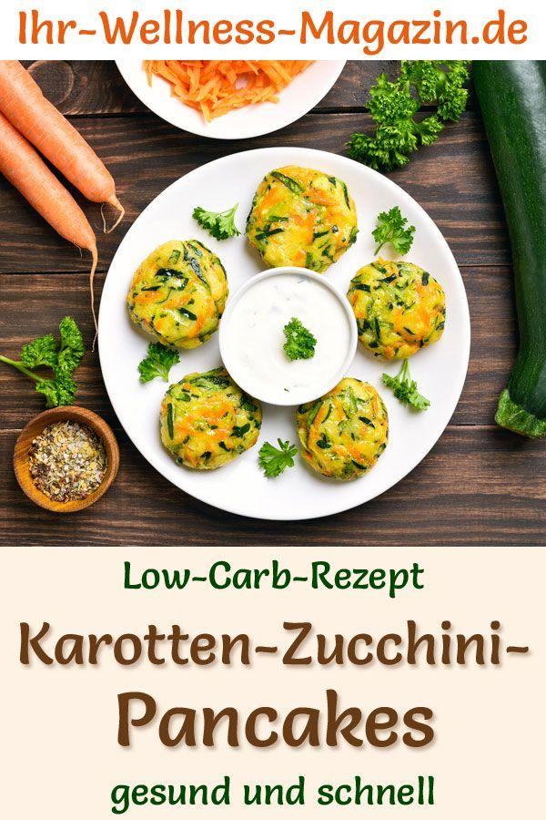 Low Carb Karotten-Zucchini-Pancakes – herzhaftes Pfannkuchen-Rezept