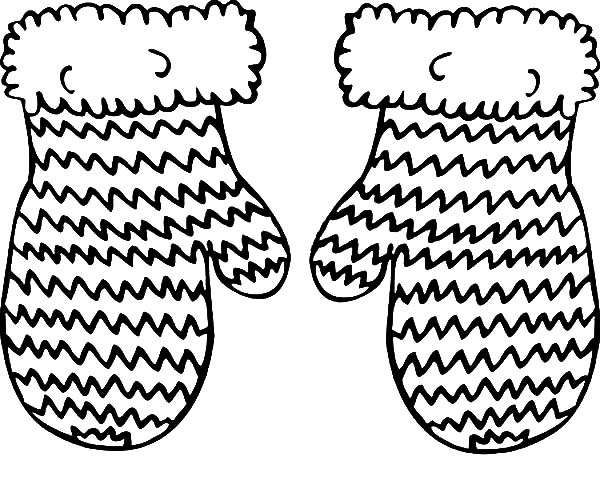 Knitted Mittens Coloring Pages Color Luna in 2020