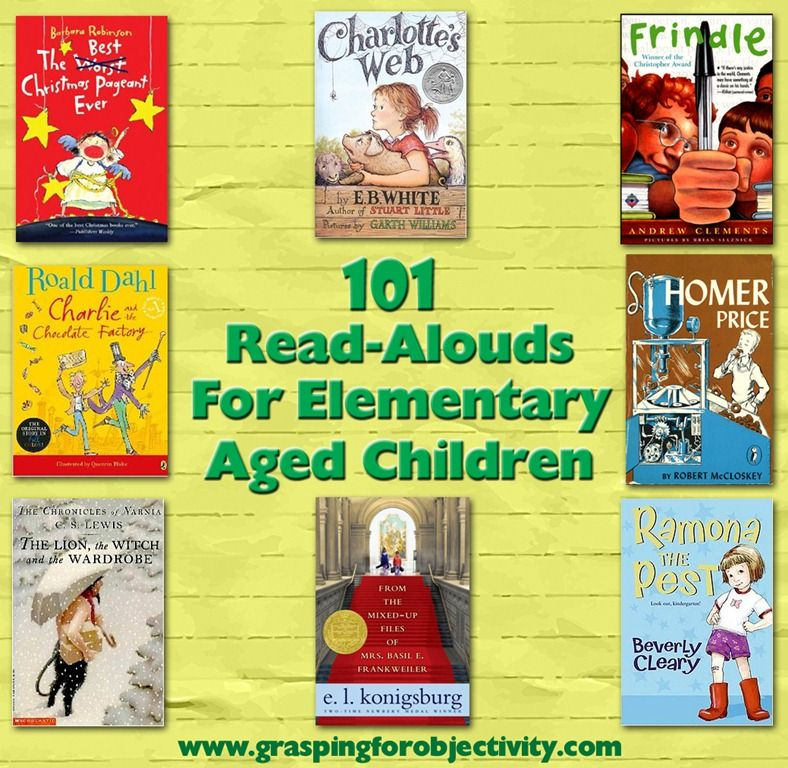101 Read aloud books for Elementary Aged Children (huge list... edited to be 215 books.)