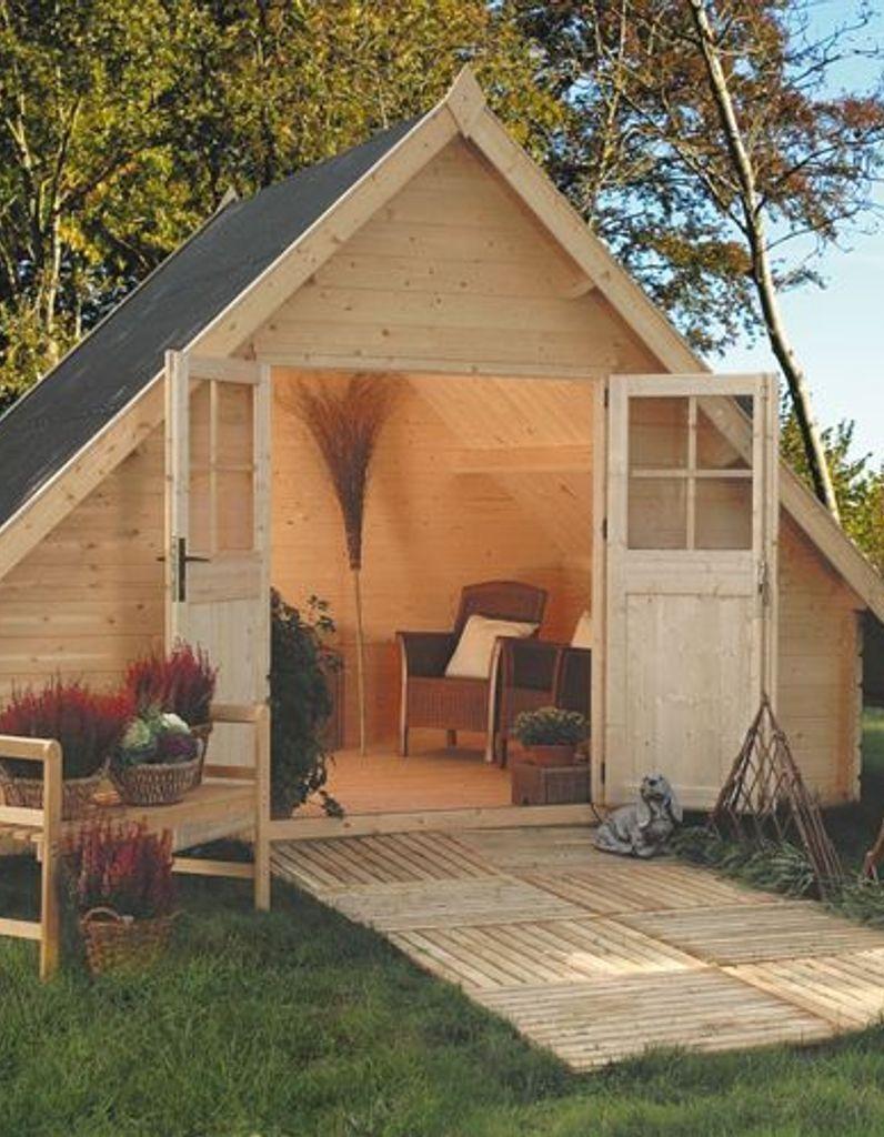 Comment cr er une pi ce vivre dans le jardin jardin abri de jardin cabane jardin y abri - Baraque de jardin ...
