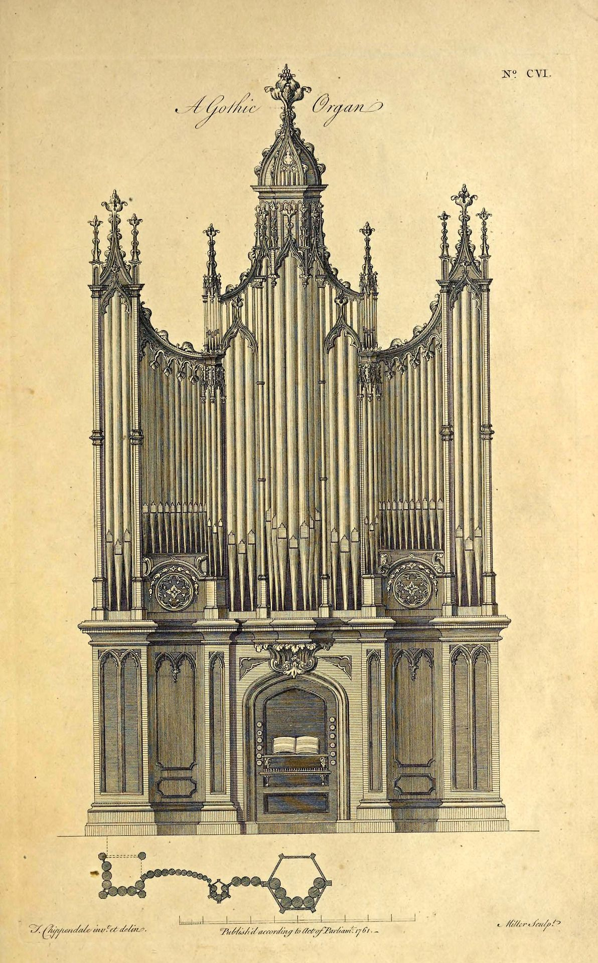 Design For A Gothic Organ England Architecture Drawing Gothic Architecture Cathedral Architecture