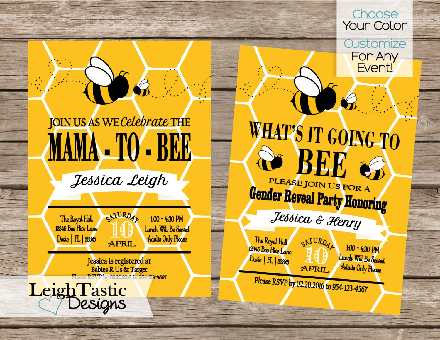 Printable Bumble Bee Comb Baby Shower Invitation Bee Gender Reveal Invita Bee Gender Reveal Baby Shower Invites For Girl Gender Reveal Baby Shower Invitations