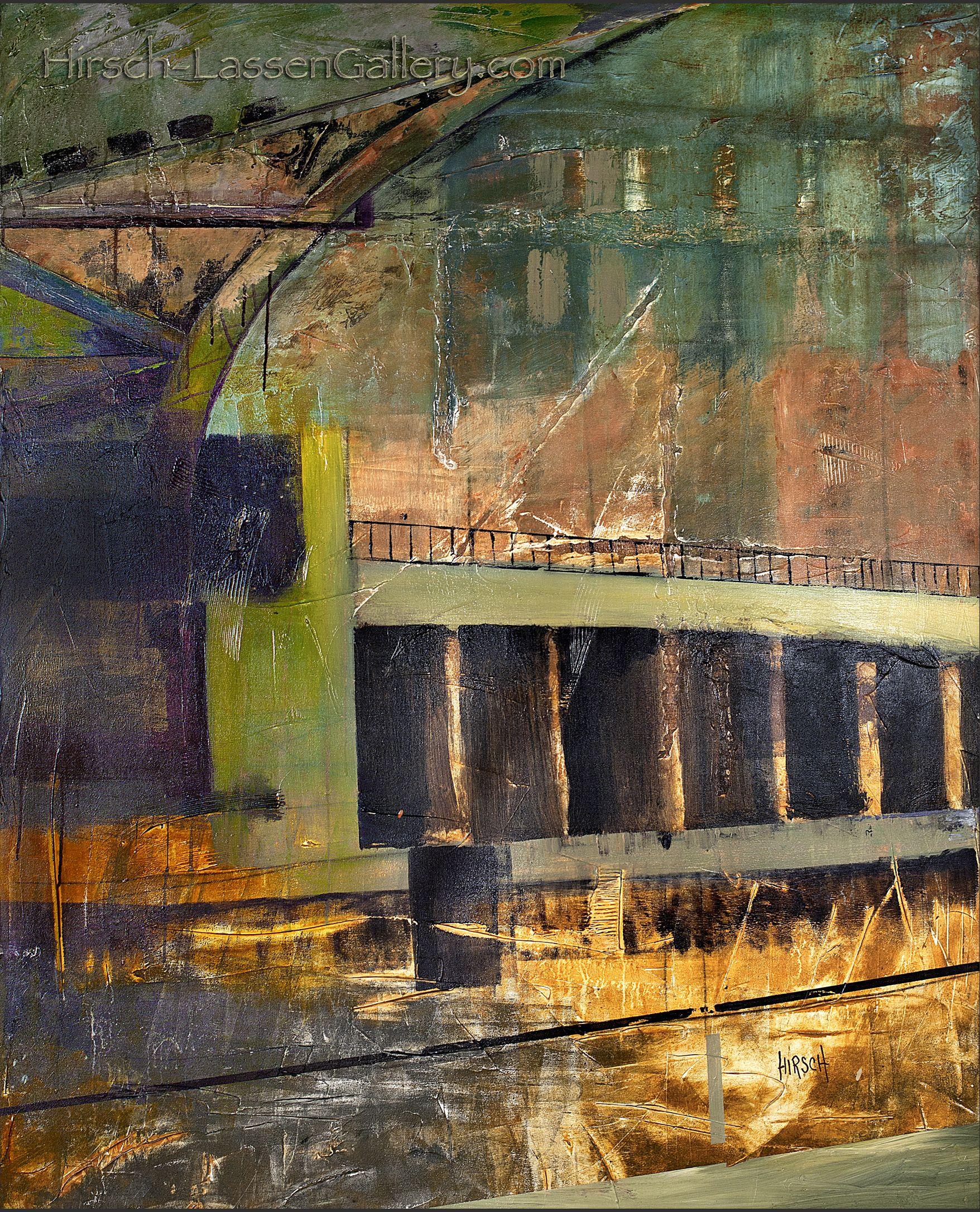 Chicago Bridge. 2012.     Nancy Hirsch-Lassen  Hirsch-LassenGallery.com