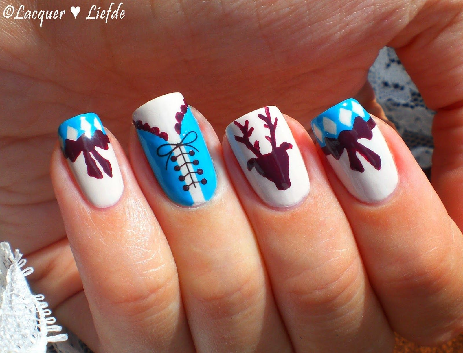 Oktoberfest Nagel Design | Nails | Pinterest