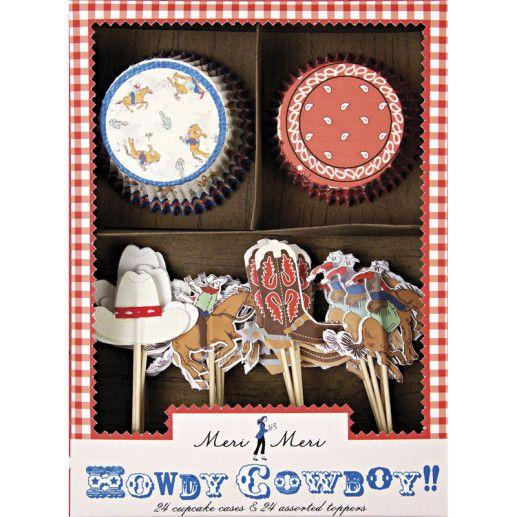 Cowboyparty Cupcake Backset Kindergeburtstag
