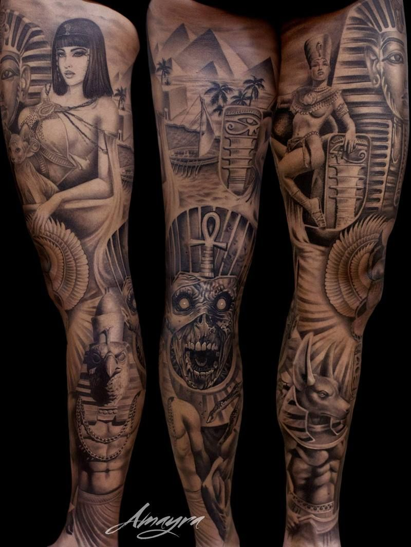 5bac60d7bd7da Amayra Leg Tattoos, Arm Tattoo, Leg Sleeve Tattoo, Dope Tattoos, Great  Tattoos