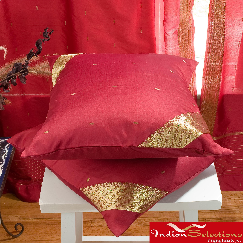 Set of two sari fabric decorative apartment pinterest saris
