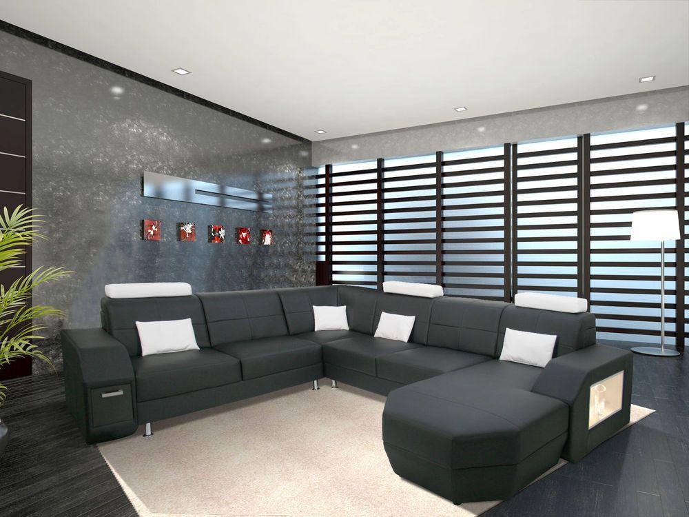 Couch Garnitur Big Sofa Wohnlandschaft Designersofa Polsterecke NEW ...