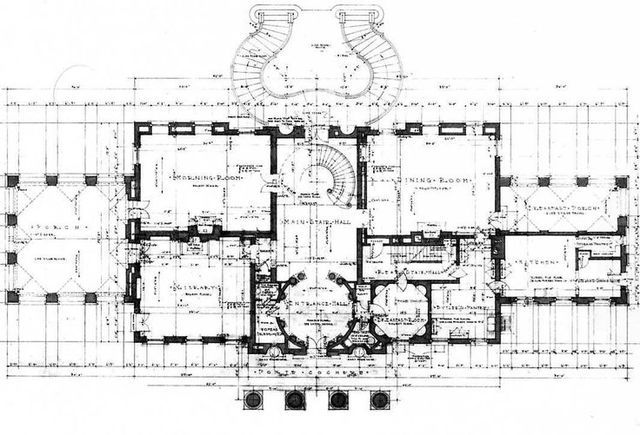 50139835c2715f01265fce7f14ea8dec Jpg 640 435 Pixels Vintage House Plans Mansion Floor Plan House Floor Plans