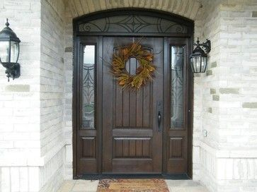 Rustic Collection Rustic Front Doors English Walnut Stain Beautiful Front Doors Front Entry Doors Arched Entry Doors