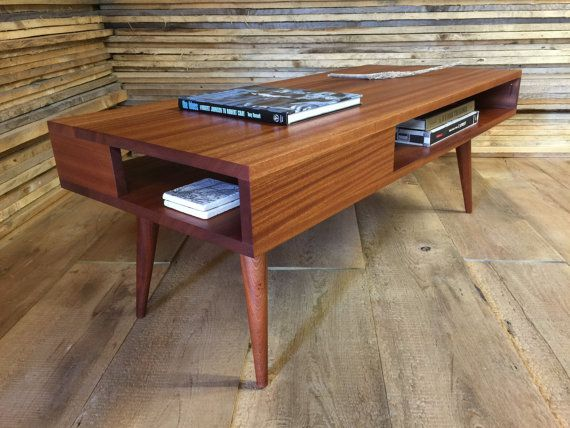 Solid Mahogany Coffee Table Thin Man Mid Century Modern Coffee