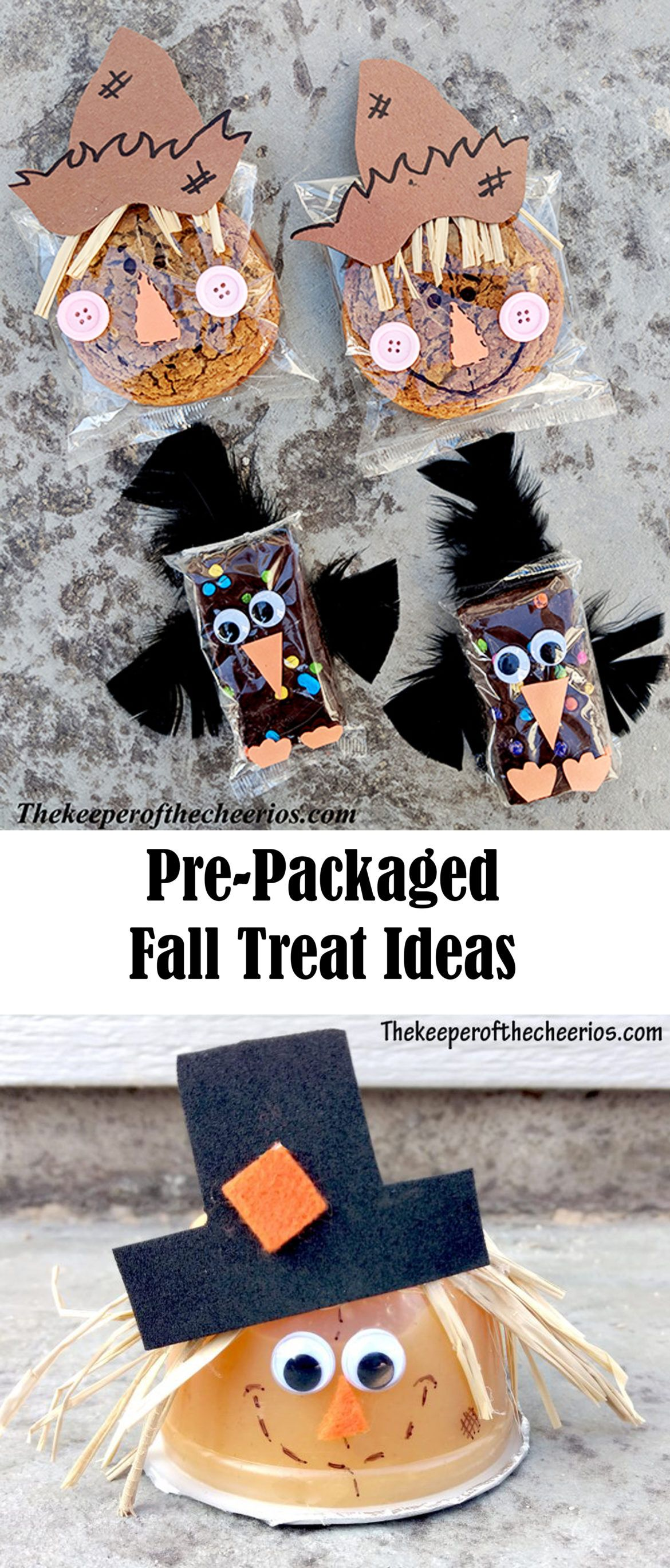 Pre-Packaged Fall Treat Ideas - The Keeper of the Cheerios #halloweentreatsforschool